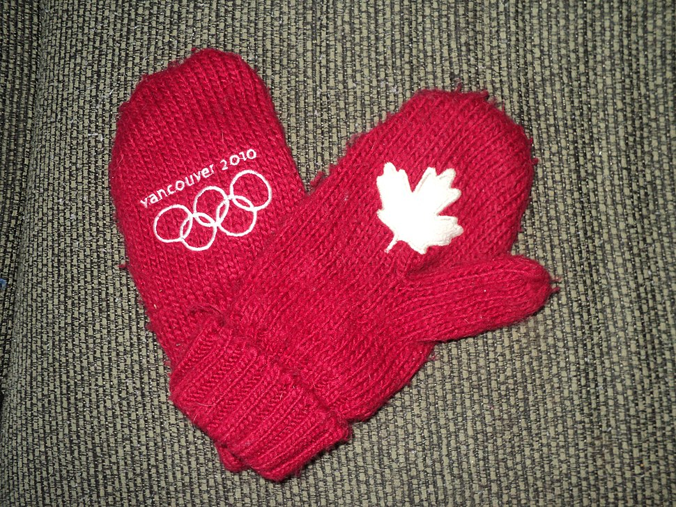 Vancouver 2010 red mittens HBC