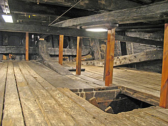 Tiller - Stern compartment containing the tiller of Swedish 17th century warship Vasa.