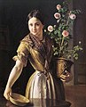 Vasily Tropinin - Girl with roses.jpg