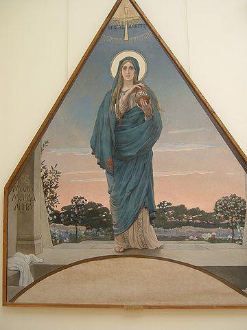 Legendan mukaan Maria Magdaleena luovutti punaisen munan keisarille.