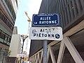 Vaulx-en-Velin - Allée la Rayonne, plaque.jpg