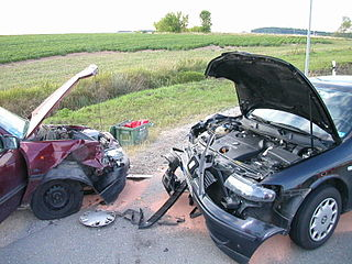 Head-on collision traffic collision where the front ends of two vehicles such as cars, trains, ships or planes hit each other in opposite directions