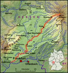Map of the Nidda River basin
