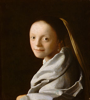 <i>Study of a Young Woman</i> painting by Johannes Vermeer