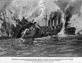 Versenkung der britischen Panzerkreuzer CRESSY, HOGUE und ABOUKIR durch U 9 am 22. September 1914 vor der niederländischen Küste. Nach einer Originalzeichnung von Hans Bohrdt.jpg