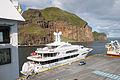 Vestmannaeyjar, Vive La Vie yacht in the harbour.jpg