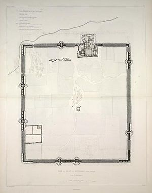 Dur-Sharrukin - Plan of Dur-Sharrukin, 1867