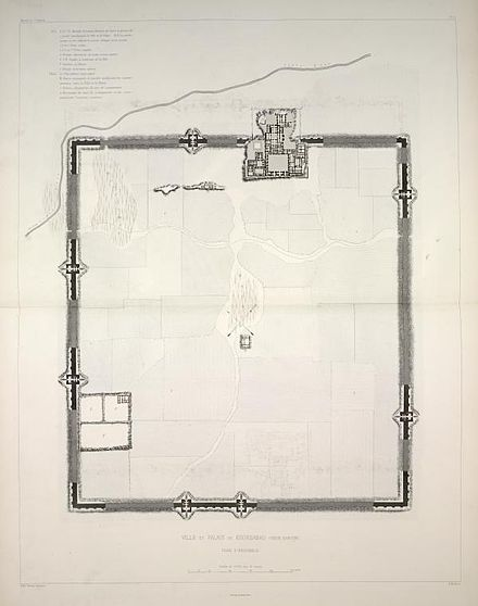 Plan of Dur-Sharrukin, 1867 Victor Place Khorsabad.jpg