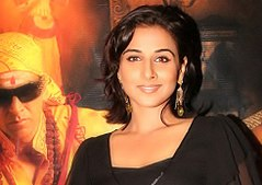 Vidya Balan is looking directly at the camera.