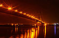 Vidyasagar Setu at night.JPG