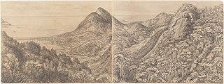 View from the Pinheiros - Corcovado 1400 feet above the level of the Sea - 20th December 1854