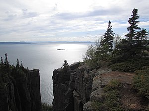 Sleeping Giant Provincial Park - This the top of the giant trail. Here you can get dramatic views and see the deep cliff beside you.