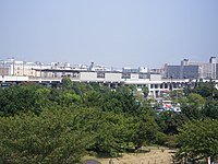 View of Kasai Rinkai Koen Station from Diamond and Flower Ferris Wheel 01.jpg
