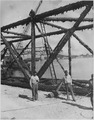 View of bridge being scraped. Yorktown, Virginia - NARA - 283532.tif