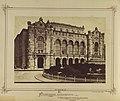 Vigadó tér, a Vigadó és előtte a Hangli kioszk, 1880 körül. - Budapest, Fortepan 82142.jpg
