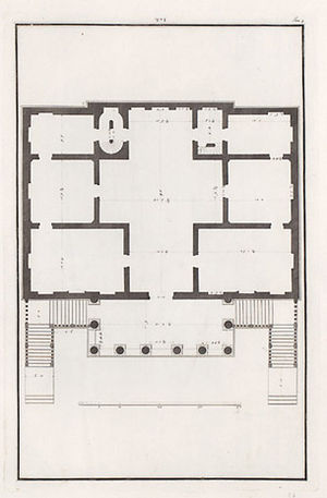 Villa Foscari - Plan, drawn by Ottavio Bertotti Scamozzi
