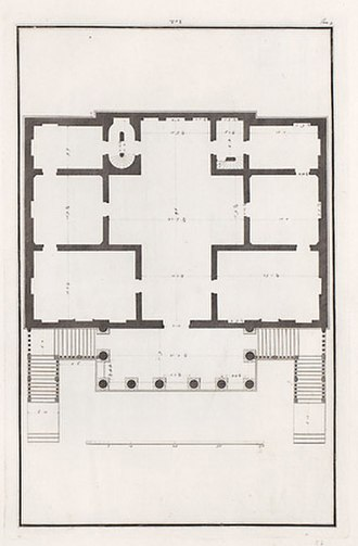 Villa Foscari - Plan, drawn by Ottavio Bertotti Scamozzi