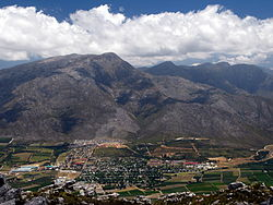 View of Villersdorp from the surrounding mountains