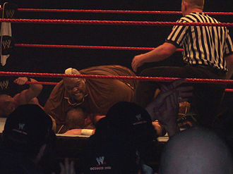 Viscera (wrestler) - Viscera performing the Viscagra on Trevor Murdoch