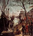 Vittore carpaccio, Arrival of the Pilgrims in Cologne 01.jpg
