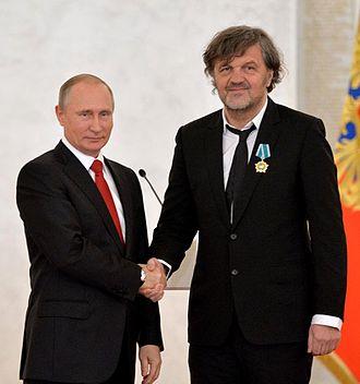 Emir Kusturica - Putin and Kusturica in Kremlin on 4 November 2016