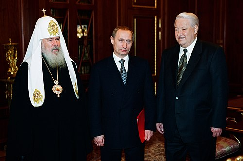 Vladimir Putin with Boris Yeltsin-5