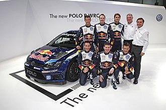 Volkswagen Motorsport - Image: Volkswagen Motorsport WRC Team 2015 001