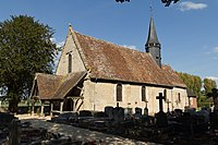 Vue sud-ouest de l'église Notre-Dame (Ouilly-le-Vicomte, Calvados, France).jpg