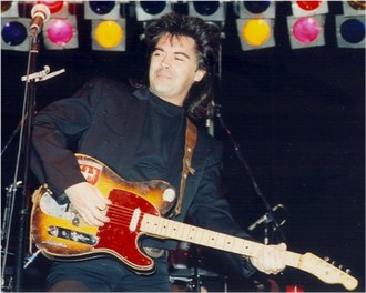 Marty Stuart - Marty Stuart, January 1993, with Clarence White's B-Bender guitar