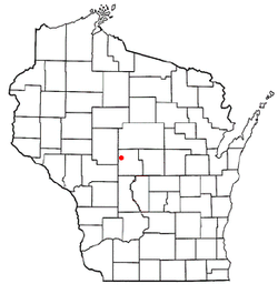 Location of Rock, Wood County, Wisconsin