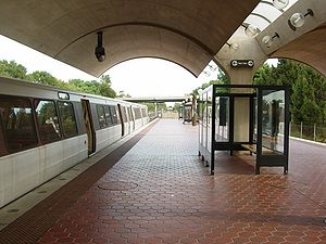 Shady Grove station - Shady Grove station in September 2004, facing to the south.