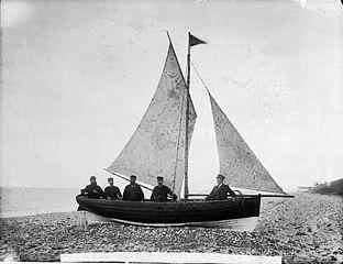 W Evans' boat, Llanddulas (Dinb)