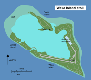 Wake Island Airfield - Image: Wake Island map