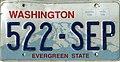 Washington 2005 license plate - 522-SEP.jpg