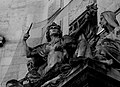 Waterloo Station statues trapped in pigeon netting 4887889232.jpg