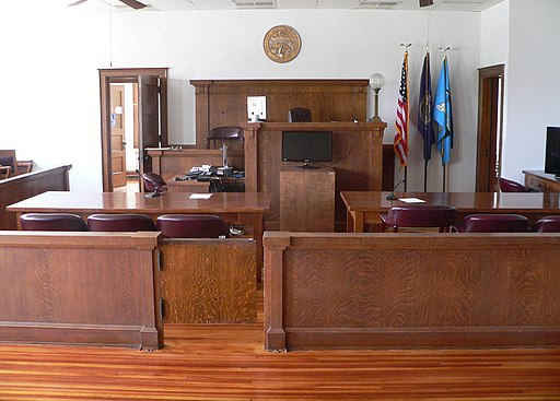 Webster County, Nebraska courthouse courtroom 1