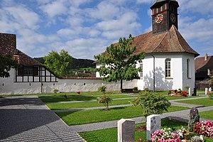 Weiach - Image: Weiach Kirchenbezirk, Büelstrasse 17 Kirche Friedhof 2011 09 15 10 34 38 Shift N