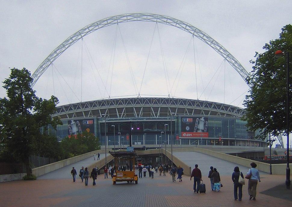 Wembley Stadium closeup