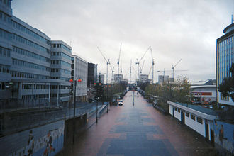 Wembley Stadium - The stadium in its very early stages of construction c. August 2003