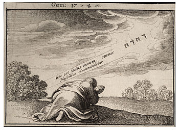 Wenceslas Hollar - God's covenant with Abraham...