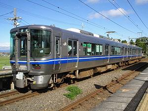 521 series - A 521 series EMU at Sakata Station in October 2007