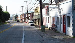 Belle, West Virginia - West Dupont Avenue in Belle