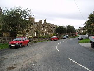 West Marton Village in North Yorkshire, England