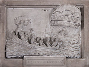 HMS Havannah (1811) - Memorial dedicated to Late Masters Mate Edward Percival who fell during the operation on 6 January 1813