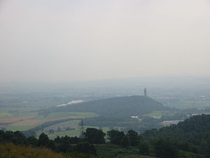 Crag and tail - The Abbey Craig, a crag with tail near the University of Stirling.  The Wallace Monument stands on the crag at the right, and the long tail slopes down leftward