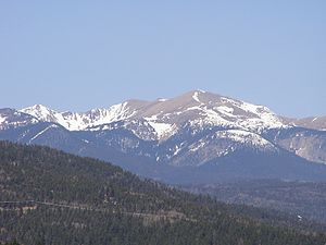 Angel Fire, New Mexico - Wheeler Peak from Angel Fire