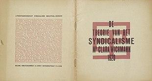 De theorie van het syndikalisme, diseño deTheo van Doesburg(1920)