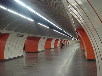 Wien Westbahnhof railway station - The U3 underground station