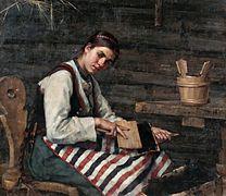 WIIK Maria Girl Carding Wool, 1883