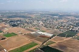 תצלום אוויר של היישוב מספטמבר 2013